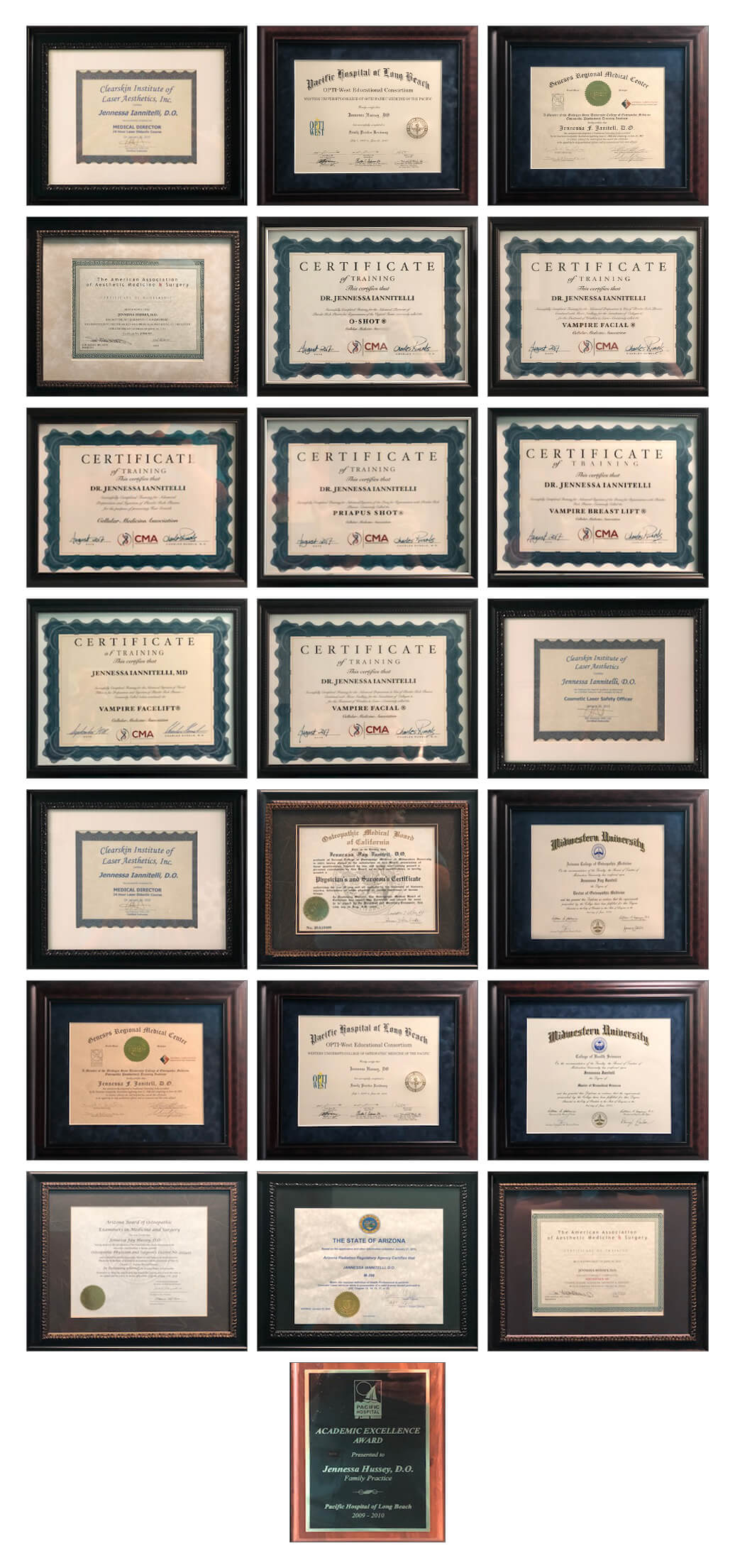 Advanced Image Med Spa Certifications