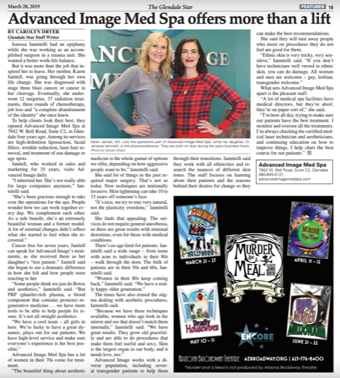 Advanced Image Med Spa Featured on Glendale Star