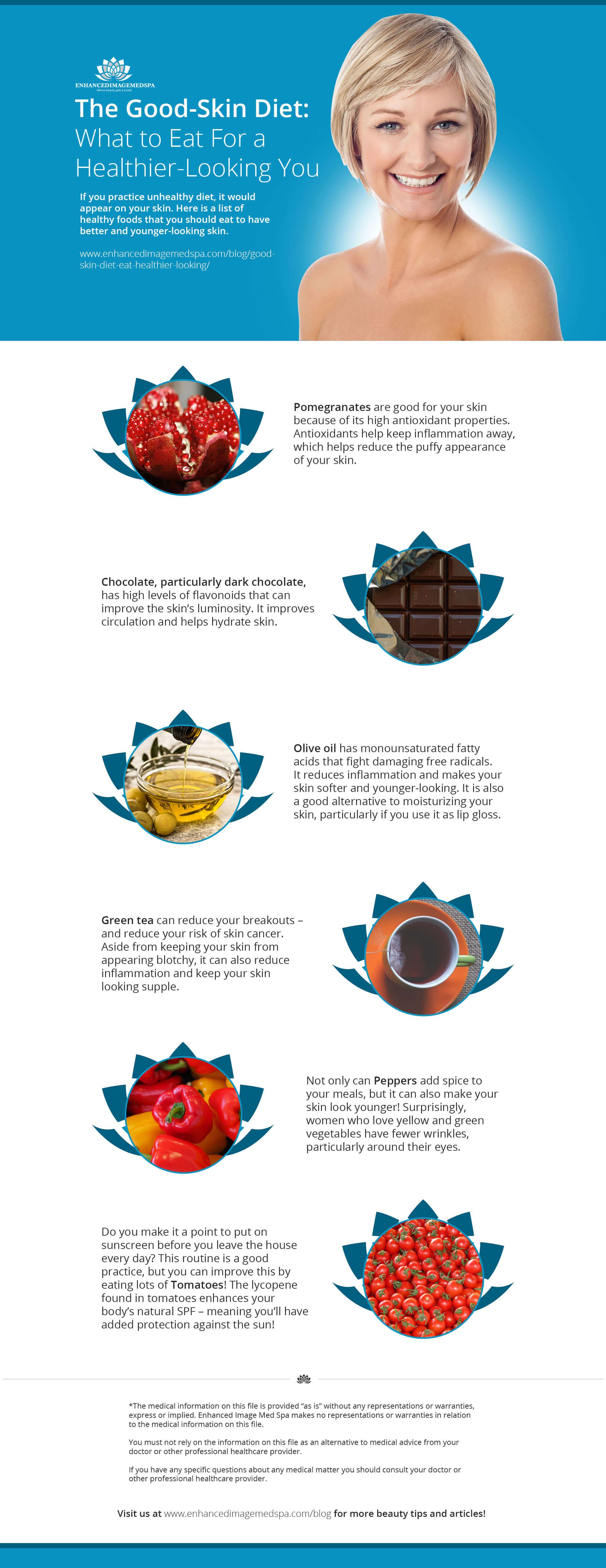 Diet for Good Skin Infographic